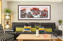 客厅里挂什么字画好?山水画,让你秀出精致的生活态度